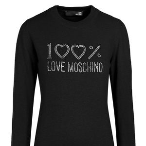 695bc0d531 Elegant Love Moschino Pullover black NWT#54042